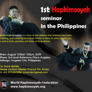 Hapkimooyeh seminar in the Philippines in August 2019(필리핀 합기무예 세미나 일정)