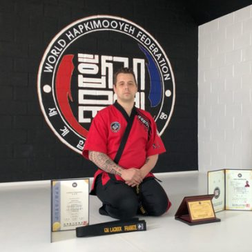 Master Frankie Lacroix from Belgium is promoted to a Hapkimooyeh grandmaster and the 8th Dan.